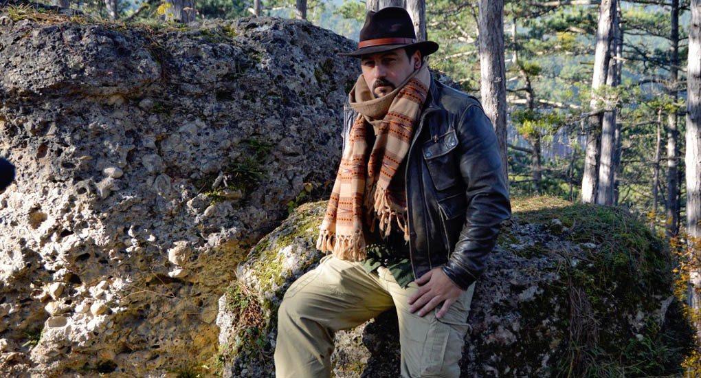 """Mario Rank beim """"Alten Grab"""" am Blaselkogel bei Herrnstein"""